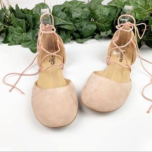 Repetto Suede Gladiator Ballet Flat Pink Orig $398